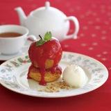 『丸ごと林檎のキャラメルアップルパイ』