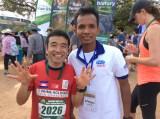 2017年2月の東京国際マラソン(フルマラソン)に出場するニャー