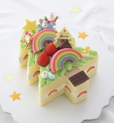 銀座コージーコーナー「クリスマス レインボー ケーキ」