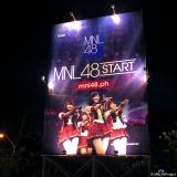 フィリピン・マニラの街頭に登場した「MNL48」始動の告知看板(C)Hallohallo Entertainment Inc.