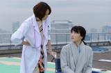 テレビ朝日系『ドクターX〜外科医・大門未知子〜』第7話より。(左から)米倉涼子、ゲストの知英(C)テレビ朝日
