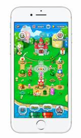 任天堂のスマートフォン用ゲーム「スーパーマリオ ラン」のiPhone版ゲーム画面 (C)2016 Nintendo