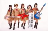 声優ガールズバンド「Poppin'Party」(左から西本りみ、大橋彩香、愛美、伊藤彩沙、大塚紗英)