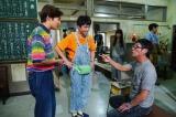 コメディードラマ『JIMMY』を企画・プロデュースする明石家さんま(左)と出演する小出恵介(右)と中尾明慶(中央)