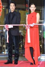 映画『本能寺ホテル』1日限定ホテルオープニングセレモニーに出席した(左から)堤真一、綾瀬はるか (C)ORICON NewS inc.