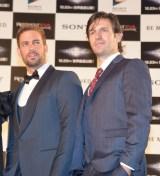 (左から)ウィリアム・レヴィ、オーエン・マッケン=映画『バイオハザード:ザ・ファイナル』ワールドプレミア (C)ORICON NewS inc.