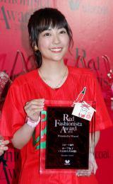 ワコール主催『Red Fashionista Award 2016』スポーツ部門「カープ女子」で受賞したうえむらちか (C)ORICON NewS inc.