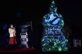 『ゴーストバスターズ』のブルーレイ&DVD発売を記念したクリスマス・フェイスツリー点灯式