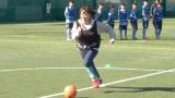 サッカートレーニングに汗を流した藤本美貴 (C)ORICON NewS inc.