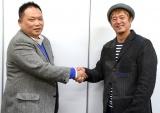 『オンバト+』などを手がけたNHKの松井修平氏(左)との対談を行った『THE MANZAI』演出のフジテレビ・藪木健太郎氏 (C)ORICON NewS inc.