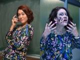 12月29日放送、テレビ朝日『恋するJKゾンビ』でLiLiCoがゾンビに。ビフォー(左)→アフター(右)(C)テレビ朝日