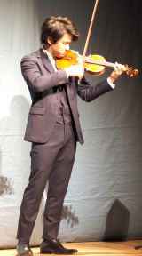 バイオリン演奏を披露した三浦文彰=『真田丸』最終回(第50回)パブリックビューイング (C)ORICON NewS inc.