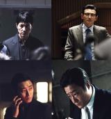 映画『アシュラ』に出演する(上段左から)チョン・ウソン、ファン・ジョンミン(下段左から)チュ・ジフン、クァク・ドウォン (C)2016 CJ E&M Corporation, All Rights Reserved