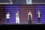 12月17日(土)開催の『ジャンプフェスタ2017』ステージで発表 (左から)うちはサラダ役の菊池こころ、うずまきボルト役の三瓶由布子、うずまきナルト役の竹内順子、ミツキ役の木島隆一