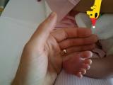ちっちゃな足の写真も…厚切りジェイソンに第3子誕生=写真はブログより