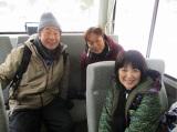 1月2日に放送されたテレビ東京系『ローカル路線バス乗り継ぎの旅』第25弾で蛭子能収、太川陽介が卒業。最後のマドンナは新田恵利 (C)テレビ東京