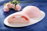 『しっとりメロンパン あまおう苺』(135円)