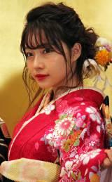 「AKB48グループ成人式記念撮影会」に参加したNMB48の村瀬紗英 (C)ORICON NewS inc.