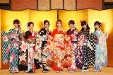 SKE48の新成人メンバー (左から)鎌田菜月、石田安奈、古畑奈和、松井珠理奈、二村春香、東李苑、青木詩織 (C)AKS