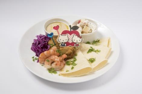 『いろいろ巻いて食べよう ハローキティのぜいたくトルティーヤプレート』(税込価格:1400円)