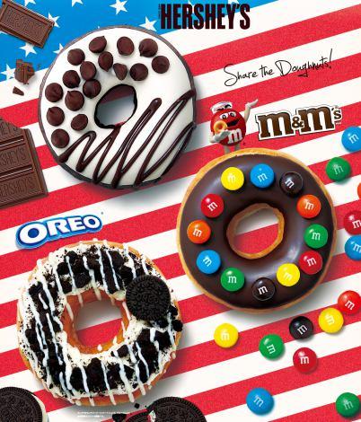 クリスピー・クリーム・ドーナツがアメリカの国民的スイーツブランド3社とコラボ!
