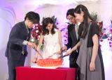 ハート型のケーキをナイフでボロボロに=ドラマ『奪い愛、冬』の記者発表会 (C)ORICON NewS inc.