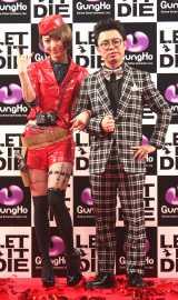 新作ゲーム『LET IT DIE』のジャパンプレミアに出席した神田沙也加(左)と浜野謙太 (C)ORICON NewS inc.
