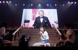 モニター越しにNGT48デビュー曲センターに指名され驚く中井りか (C)AKS