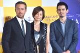映画『ラ・ラ・ランド』ジャパンプレミアに出席した(左から)ライアン・ゴズリング、米倉涼子、デイミアン・チャゼル監督 (C)ORICON NewS inc.