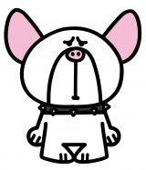 ショートアニメ『ぶっぷな毎日』、関西テレビで放送決定。フレンチブルドッグのジュニア。体は大きいが、弱虫で泣き虫。いつ もゆんぼにいじめられている(C)「ぶっぷな毎日」製作委員会