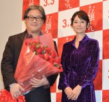 (左から)パク・チャヌク監督、真木よう子 (C)ORICON NewS inc.