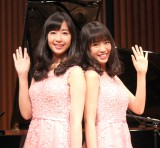 22日にCDデビューする山田姉妹(左から)山田華、山田麗 (C)ORICON NewS inc.