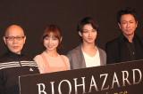 舞台『BIOHAZARD THE Experience』公開ゲネプロ後の囲み取材の模様 (C)ORICON NewS inc.