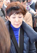藤村俊二さん「献花の会」に参列したうつみ宮土理 (C)ORICON NewS inc.