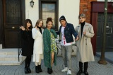 写真左から永井理子、ダコタ・ローズ、JamFlavor、バトシン