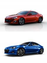 『トヨタ86』(写真上)と『SUBARU BRZ』(写真下)が「2012年カー・オブ・ザ・イヤー」を受賞