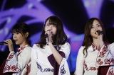 卒業コンサートで有終の美を飾った橋本奈々未(中央)