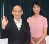 NHKこども番組シリーズ『JAPANGLE』取材会に出席した(左から)笹野高史、杏 (C)ORICON NewS inc.