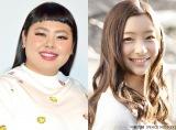 4月からNHK総合『土曜スタジオパーク』の司会を務める(左から)渡辺直美、足立梨花