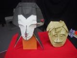 松尾貴史が1枚の紙から独創的な方法で折り上げた魔女の顔 (C)ORICON NewS inc.