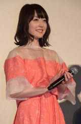 映画『夜は短し歩けよ乙女』の完成披露上映会に出席した花澤香菜 (C)ORICON NewS inc.
