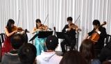 東京藝術大学のOG、OB、現役藝大生たちによる弦楽四重奏 (C)ORICON NewS inc.