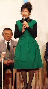 ドラマ劇場『やすらぎの郷』の制作発表記者会見に出席した五月みどり (C)ORICON NewS inc.