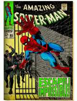 「HERO(ヒーロー) 」展示、「アメイジング・スパイダーマン」(1968年) 原画(C)2017 MARVEL