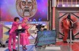17日放送の日本テレビ系バラエティ番組『超問!真実か?ウソか?』 で「ビジネスピンク疑惑」を指摘される林家ペー・バー夫妻(C)日本テレビ