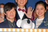 (左から)映画『SING/シング』の公開記念舞台あいさつに出席した内村光良、長澤まさみ (C)ORICON NewS inc.