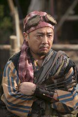 NHK大河ドラマ『おんな主城 直虎』でモグラを演じるマキタスポーツ(C)NHK
