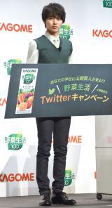 カゴメ『野菜生活100』Twitterキャンペーン・新CM発表会に出席した山崎賢人 (C)ORICON NewS inc.