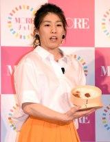 『MORE40周年記念「モアチャレ」』プロジェクト発表会に登場した吉田沙保里 (C)ORICON NewS inc.