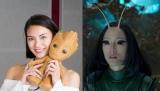 『ガーディアンズ・オブ・ギャラクシー:リミックス』でマンティスの日本語吹き替え版を務める秋元才加 (C) Marvel Studios 2017